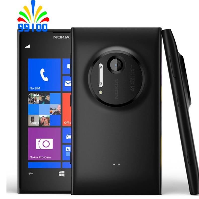 Nokia Lumia 1020 телефон Nokia 41MP камера двухъядерный 1,5 ГГц 32 ГБ ROM 2 Гб RAM Window 8 OS 3G и 4G один год гарантии