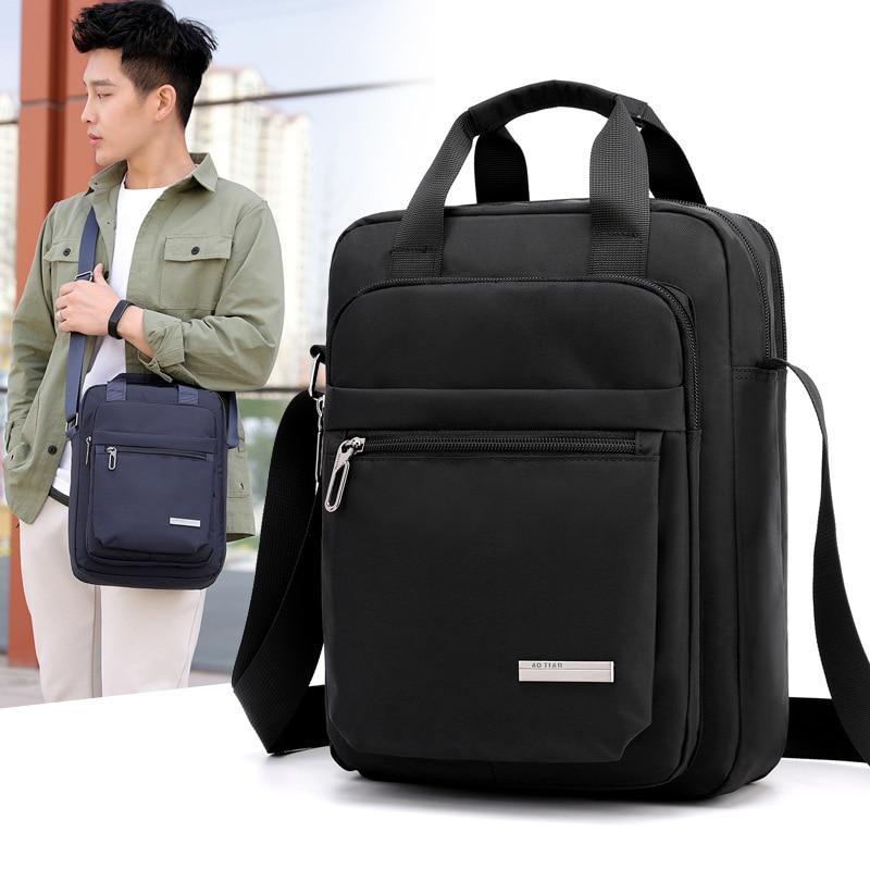 2019 High Quality Oxford Men Bag Waterproof Business Man Handbag Causal Male Shoulder Bags Black Blue Crossbody Men Briefcase