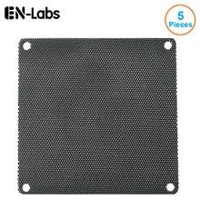 En-labs 5 pcs/lot 4 CM/6 CM/7 CM/8 CM/9 CM/12 CM/14 ordinateur maille noir PVC PC boîtier ventilateur refroidisseur poussière filtre étui anti-poussière couverture