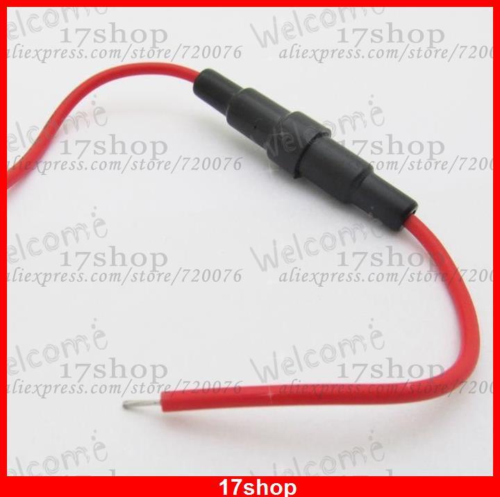100 piezas x 5x20mm soporte de fusible AGC en línea tipo de tornillo con cable