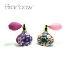 Brainbow 15ml ballon bouteilles de parfum vide rechargeable bouteille atomiseur vaporisateur polymère argile vaporisateur parfum pompe étui voyage Portable
