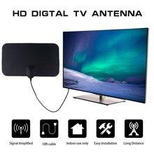 kebidumei 4K 25DB High Gain HD TV DTV Box Digital TV Antenna 50 Miles Booster Active Indoor Aerial HD Flat Design EU Plug