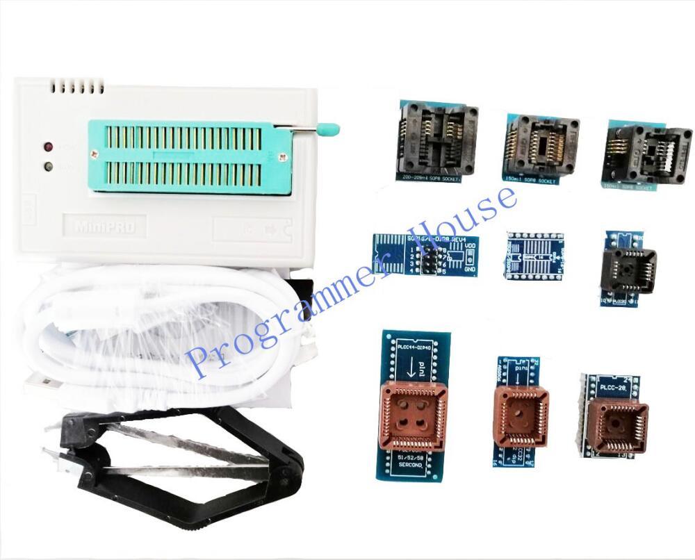 100% New V9.16 TL866CS TL866A TL866II Plus Universal Programmer Support ICSP NAND FLASHEEPROMMCU SOP/PLCC include 10 adapters