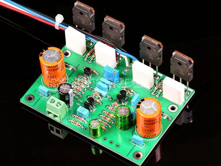Ensamblaje K1058/J162 tubo de campo de clase A pura Placa de amplificador Mono paralelo basado en circuito A2
