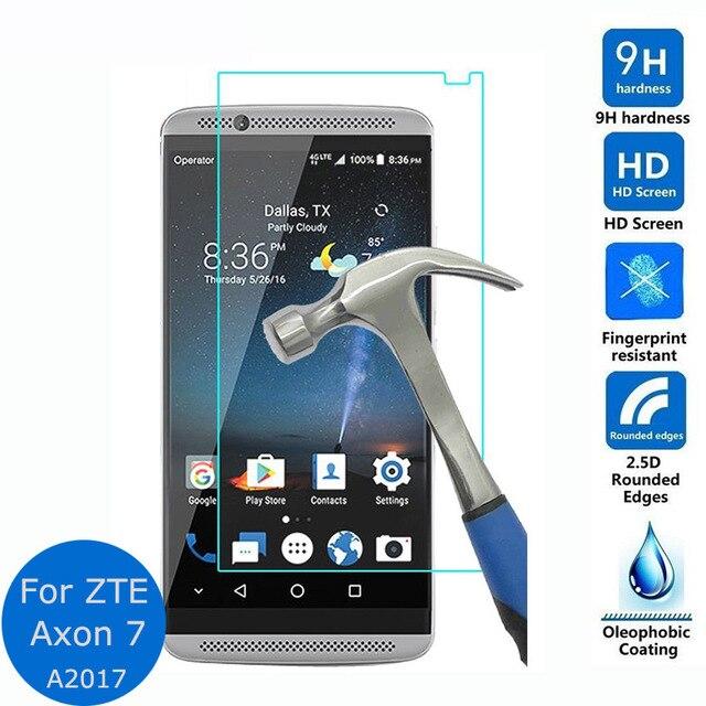 Para ZTE Axon 7 A2017 protector de pantalla de vidrio templado 2.5D película protectora a prueba de explosiones para ZTE Axon 7 A2017