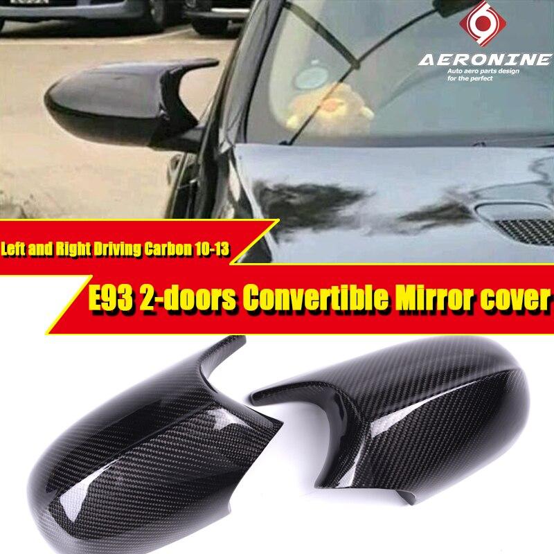 LCI E93 100% aspirado seco realmente fibra de carbono espejo tapa añadir en estilo M3 Look para BMW 3-Series Sedan 11 reemplazo 10-13