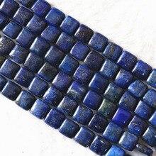 Natürliche Lapis lazuli stein 12mm 14mm schönen platz form lose Perlen diy Schmuck machen großhandel preis 15 zoll b596