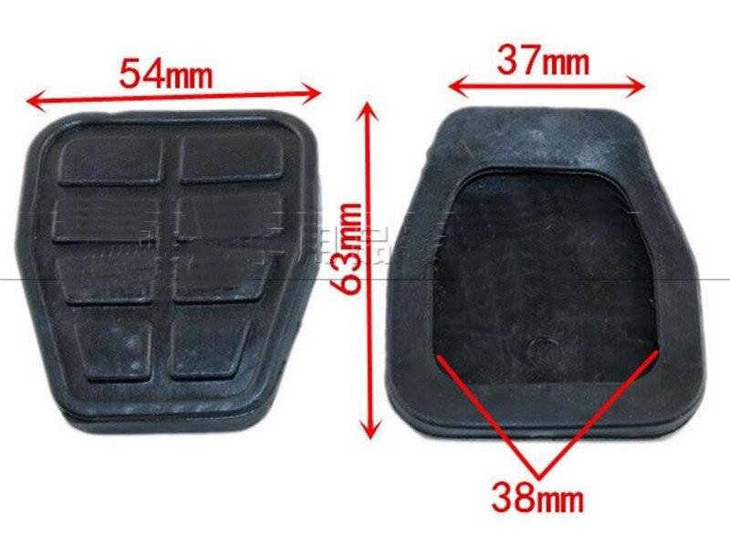 Almohadilla de goma de pedal de embrague para Volkswagen Santana pedales alfombrilla antideslizante de alta calidad