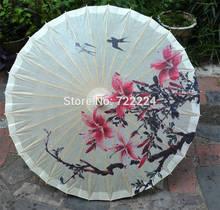 Envío Gratis Dia 50 cm artesanía China paraguas antiguo hecho a mano dos golondrinas retorno foto baile engrasado paraguas de papel para niños