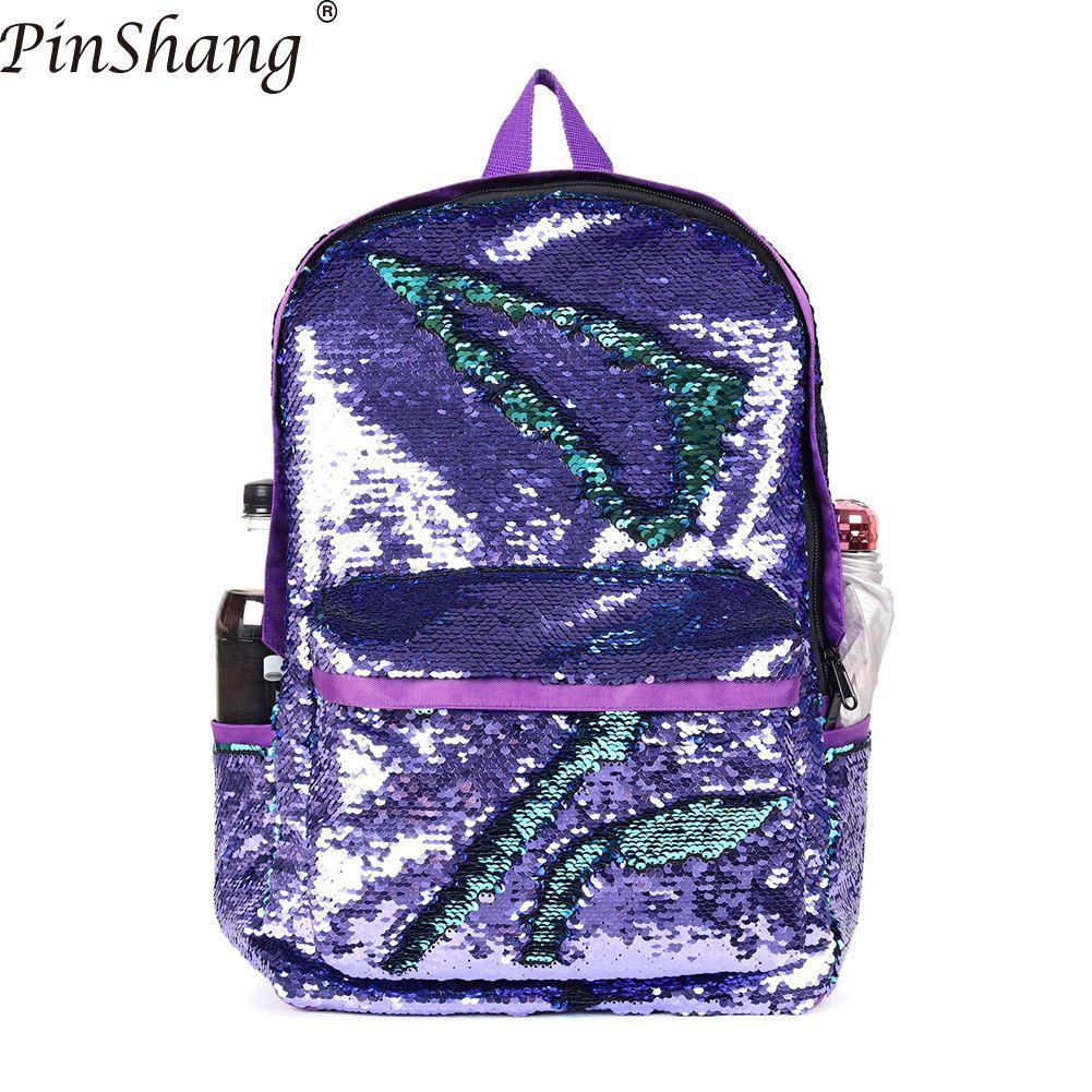Женские модные рюкзаки с блестками, рюкзак для ноутбука с большой вместительностью, одноцветная дорожная сумка для женщин и мужчин, школьные рюкзаки ZK30