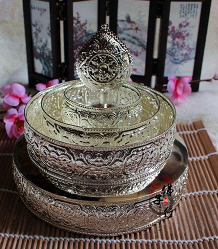 El ocho disco dorado Manja Mandala, diámetro del mercado 17cm