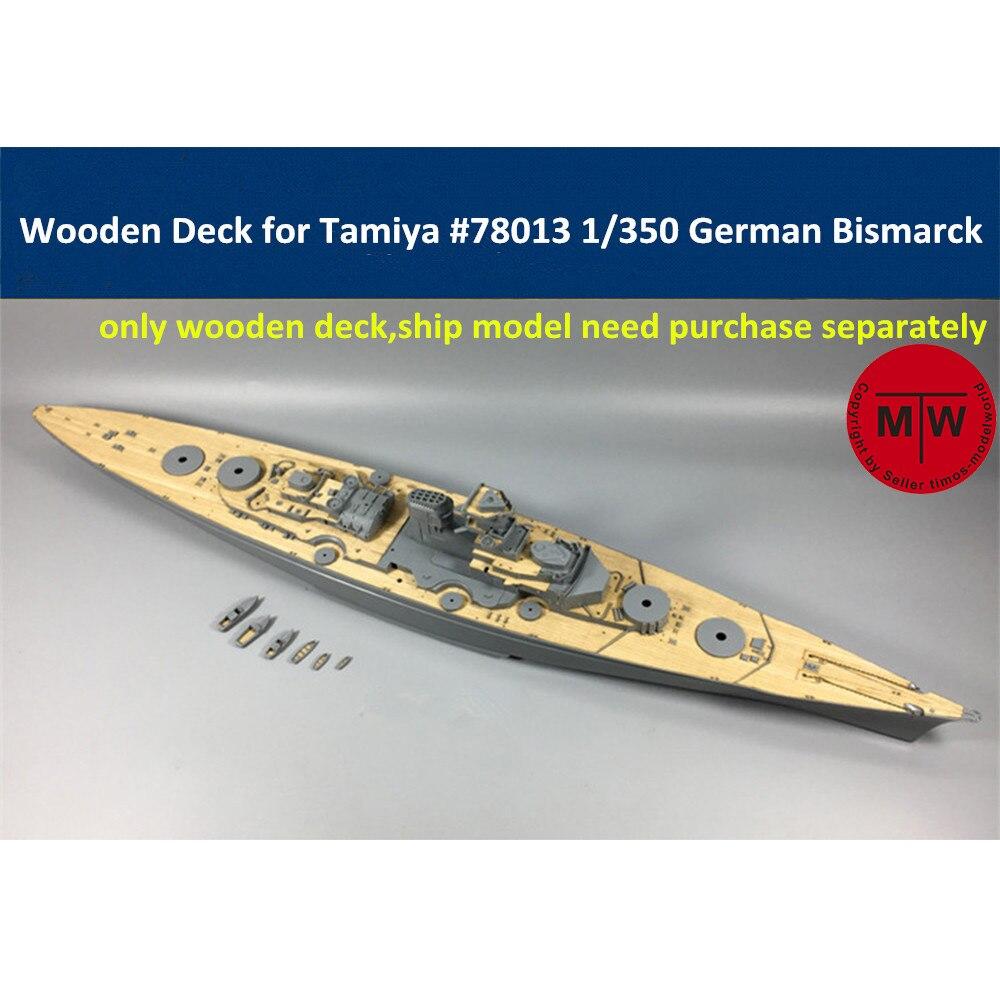 Plataforma de madera a escala 1/350 para Tamiya 78013 alemán WWII Battleship Bismarck modelo CY350008