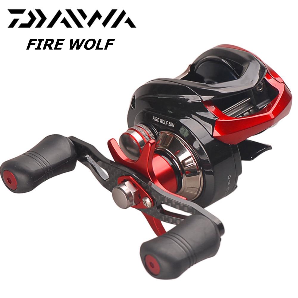 Daiwa original fogo lobo 50 h 50hl cs isca moldando carretel de pesca 7.0 1/6bb/6 kg magforce 3d quebrar sistema velocidade eixo moulinet peche