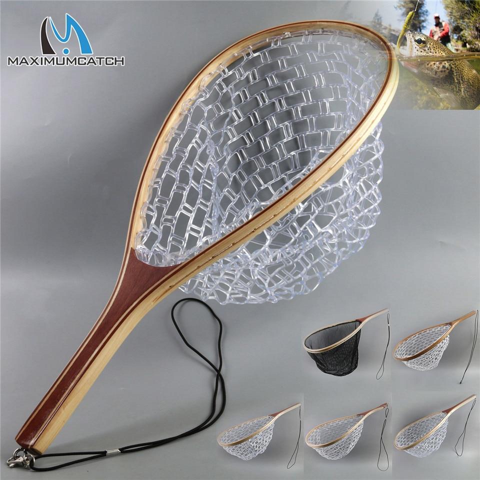 Filet de pêche à la truite, filet de pêche à la mouche à Monofilament transparent en caoutchouc/filet en filet