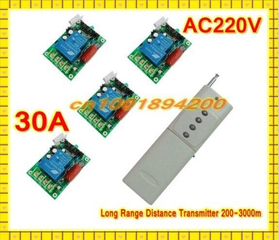 مفتاح التحكم عن بعد RF ، مستقبل عالي الطاقة AC220V 30A ، جهاز إرسال بعيد المدى ، مضخة مياه المزرعة ، جهاز تحكم عن بعد