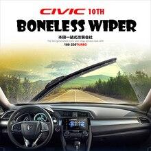 Car-styling Cover 2PCS Boneless Wiper Mute Windscreen Wipers Blade For 2016 HONDA CIVIC 10TH Essuie Glace Limpiaparabrisas