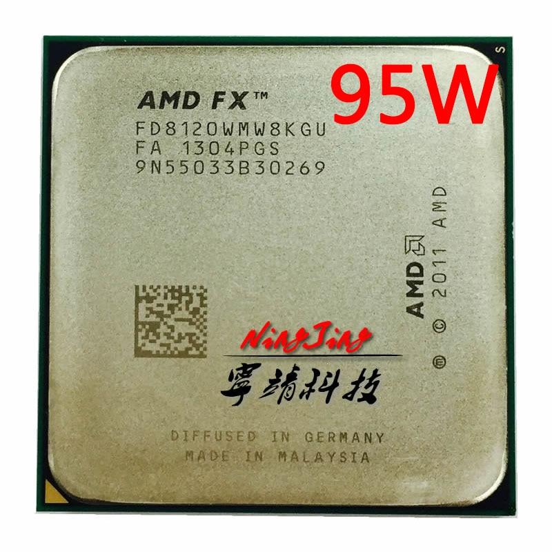Amd fx-series fx 8120 fx8120 FX-8120 3.1 ghz 95 w processador cpu de oito núcleos fd8120wmw8kgu soquete am3 +