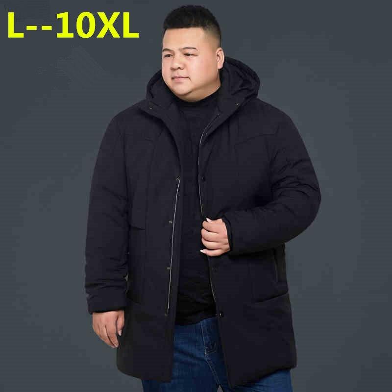 Chaqueta de invierno para hombre de talla grande 10XL 8XL 6XL 4XL ropa de marca gruesa cálida larga parka de calidad para hombre abrigo de invierno de gran tamaño