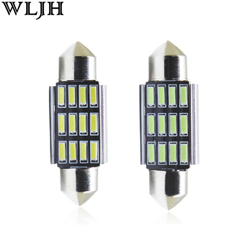 WLJH 4x Canbus 41mm LED Car Light Lamp Bulb 12v Auto Lighting Dome Interior Roof Bulb for Ford Falcon EF EL AU BA BF FG XR6 XR8