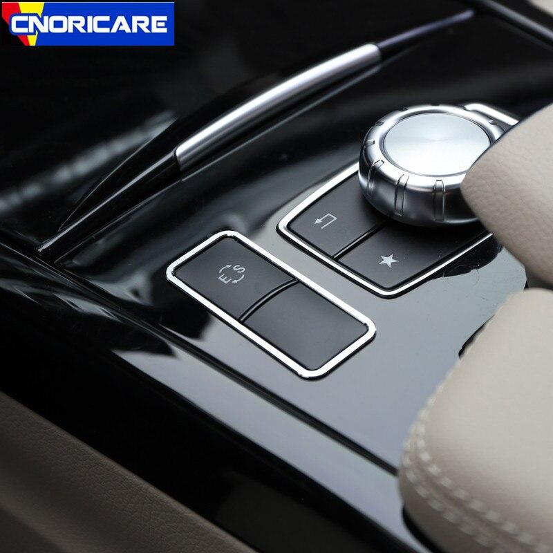Автомобильный Центральный пульт ES кнопки рамка Украшение Наклейка отделка для Mercedes Benz E Class W212 CLS алюминиевый сплав модифицированный стиль