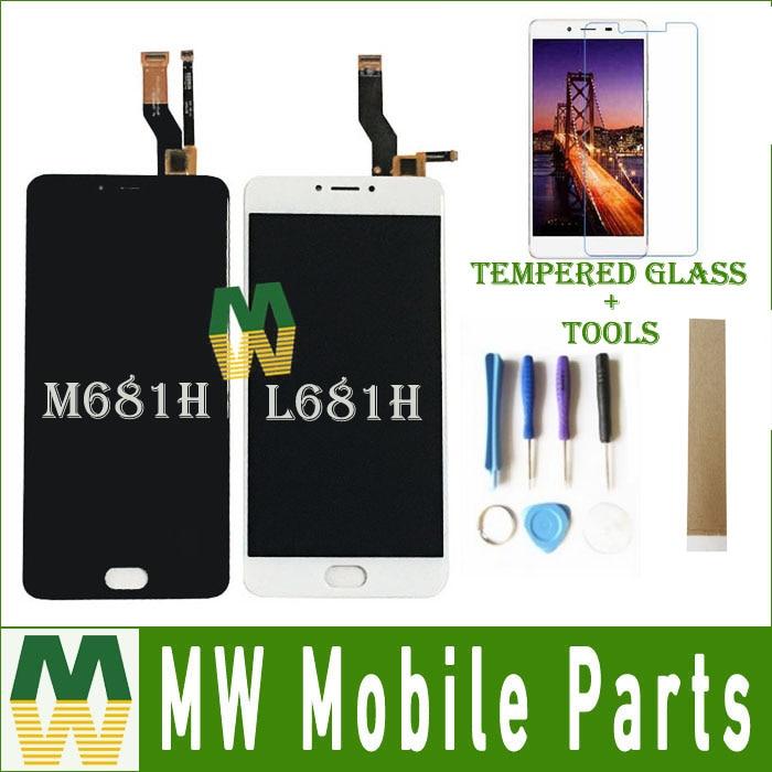 Para Meizu M3 Nota L681H M681H M681Q Sensor de LCD Screen Display Toque Digitador Assembléia Vidro Black White Cor Com Kit