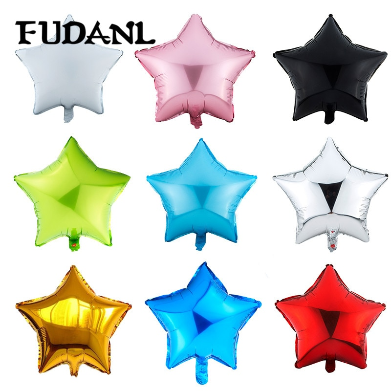 18inch Star Heart Round Shape Foil Balloon Helium Baloon Wedding Birthday Christmas Party Decor Supplies Kids Globos Toy Gifts