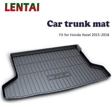 LENTAI 1PC rear trunk Cargo mat For Honda Vezel 2015 2016 2017 2018 Styling Boot Liner Tray Waterproof Anti-slip mat Accessories