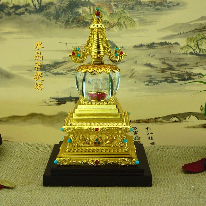 Atividades religiosas new crystal Bodhi médio torre stupa Budista fornece por atacado fabricantes Tântrico ornamentos