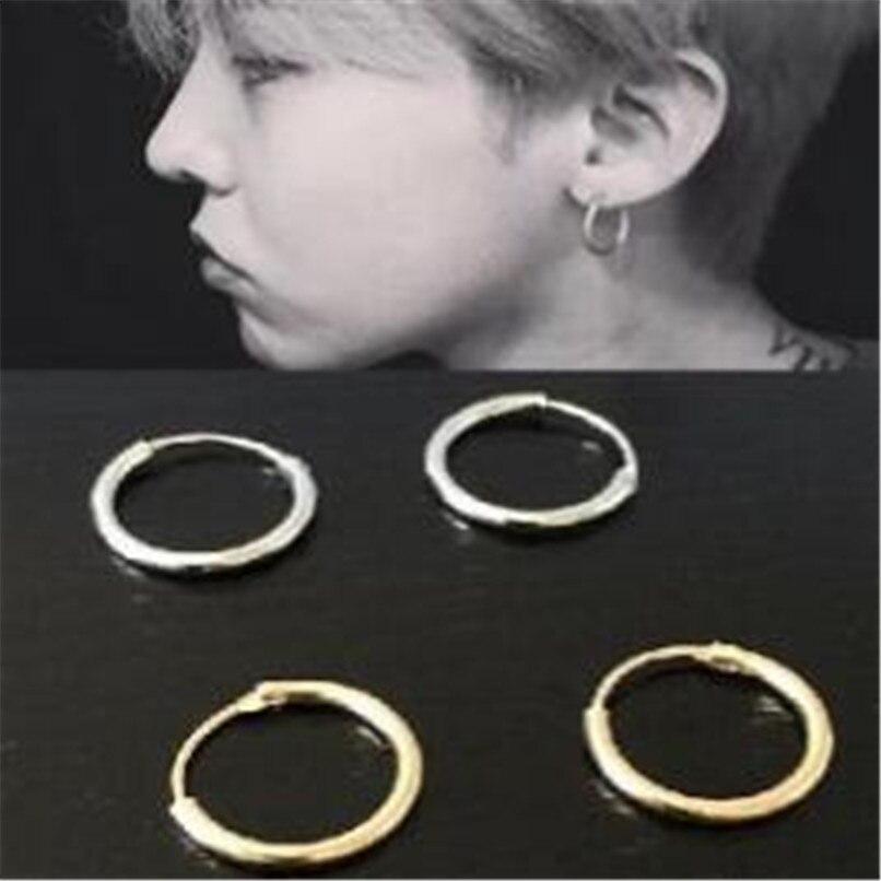 Joyería lusion chapado en oro o plata Punk Metal pendientes de hombre redondos nuevos baratos pendientes bonitos accesorios al por mayor para Mujeres Nuevo