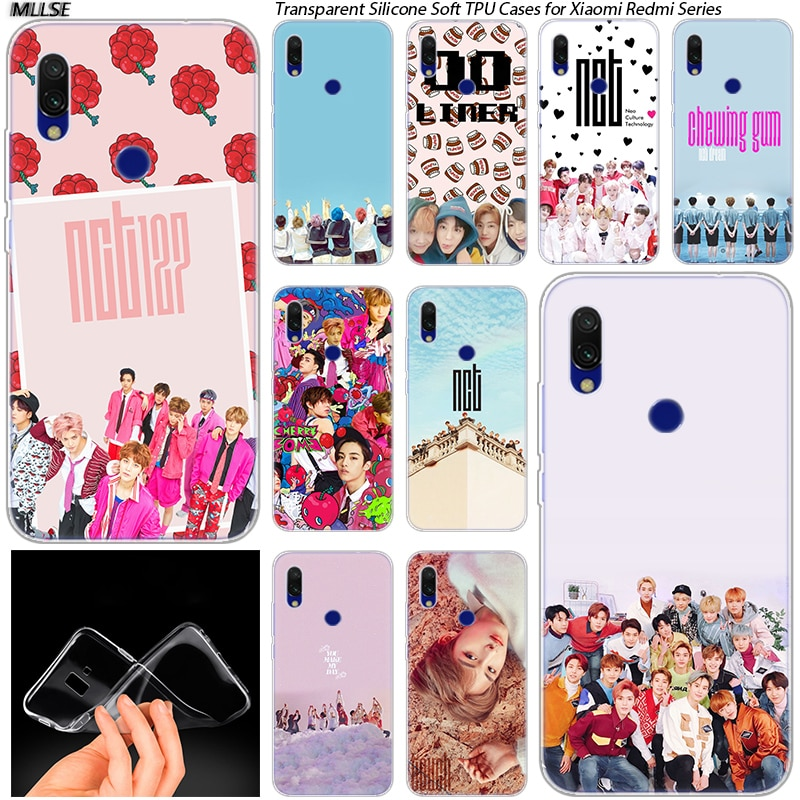 Hot NCT 127 Kpop Boy Soft Silicone Case for Xiaomi Redmi K20 7 7A 5 5Plus 6 6A S2 Note 8 7 6 5 Pro F
