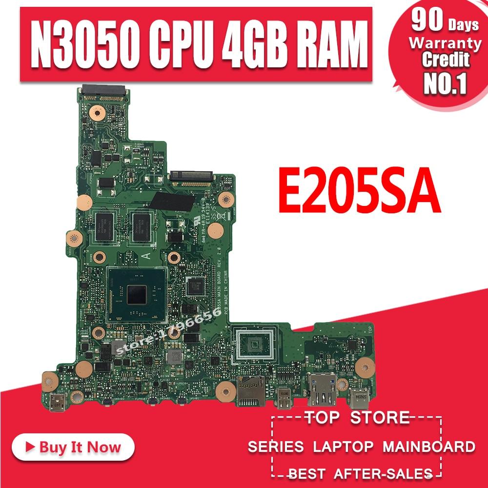 Placa base para ordenador portátil E205SA para For Asus tp200sA E205S E205SA placa base de prueba N3050 CPU 4GB RAM 32GB tp200sA