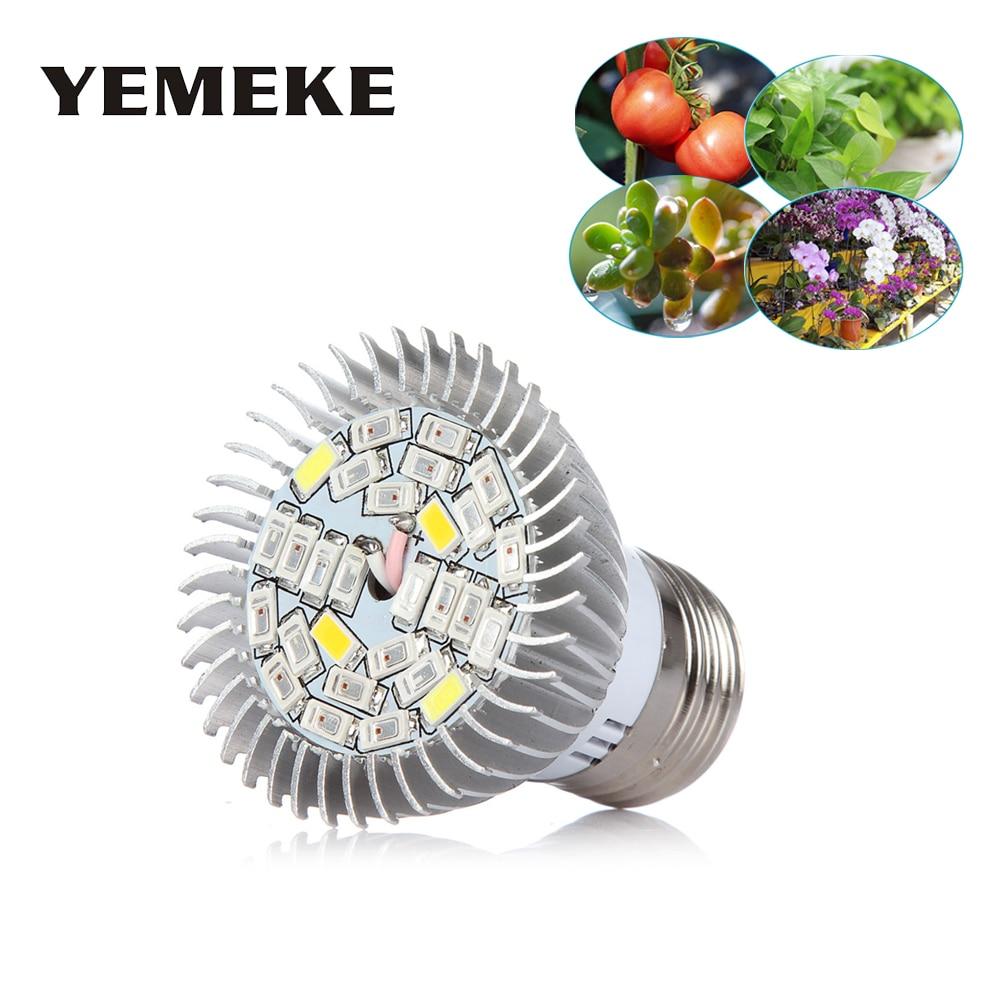 Luz Led de cultivo de espectro completo de 28W E27 SMD5730 lámparas de cultivo UV IR lámpara de planta Phyto para sistema hidropónico de flores de planta de interior
