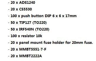 شحن مجاني ADS1240 CS5530 زر DIP 6x6x17 مللي متر TIP127 (TO220) IRF540N (TO220) المقاوم 10k لوحة جبل