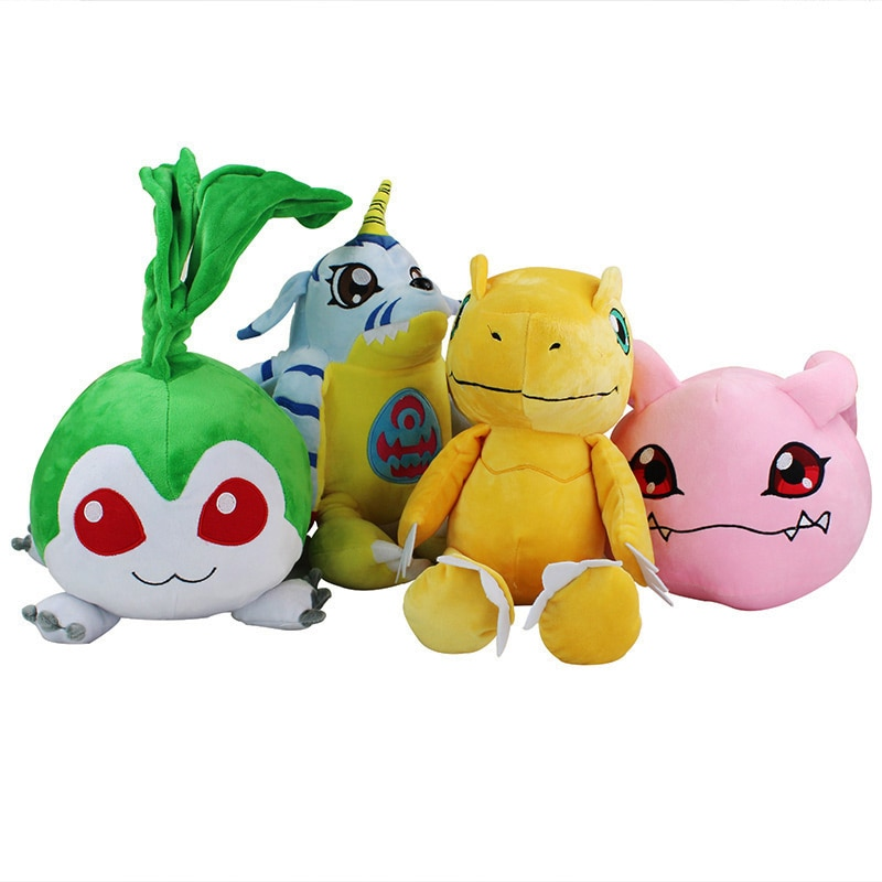 30-40cm Anime Digimon peluche juguete Agumon Gabumon Tanemon Koromon peluche muñeca Brinquedo regalo para niños envío gratis