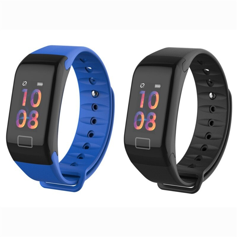 F1 plus pulseira inteligente monitor de saúde freqüência cardíaca pressão arterial pedômetro à prova dwaterproof água esportes pulseira banda relógio inteligente masculino feminino