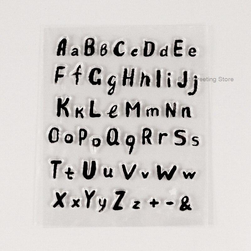 Selo claro da letra do alfabeto dos selos do scrapbooking da saudação eno
