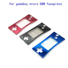 Coque avant de remplacement en Chrome pour Nintendo Game Boy Micro pour GBM