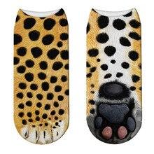 New 3D Animals Paw Printed Women Socks Cute Cat Paw Pattern Short Sock Funny Kawaii Low Ankle Cotton Socks Unisex