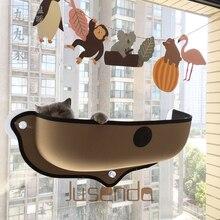 Heißer Verkauf Katze Hängematte Bett Montieren Fenster Pod Liege Saug Tassen Warme Bett Für Pet Cat Rest Haus Weich Und komfortable Frettchen Käfig