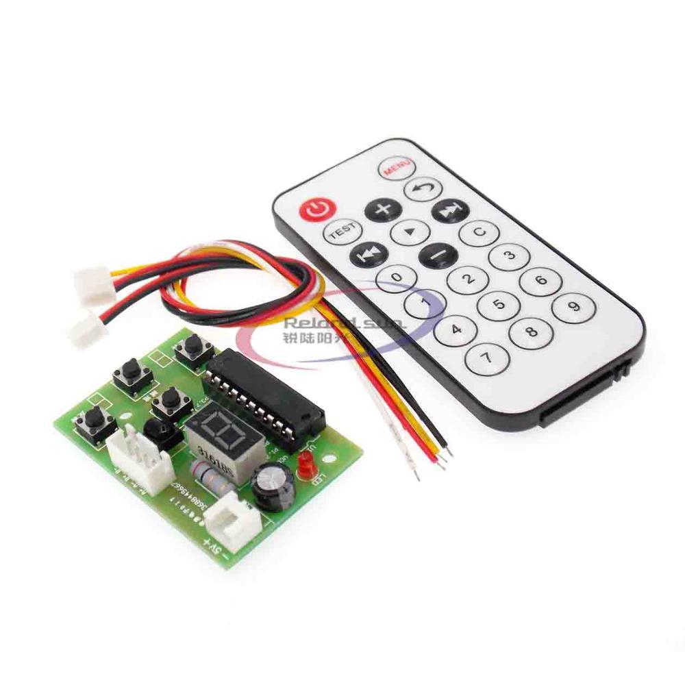 Controlador de Motor paso a paso de 4 V-6 V CC tarjeta integrada velocidad de 4 cables de 2 fases ajustable con Control remoto