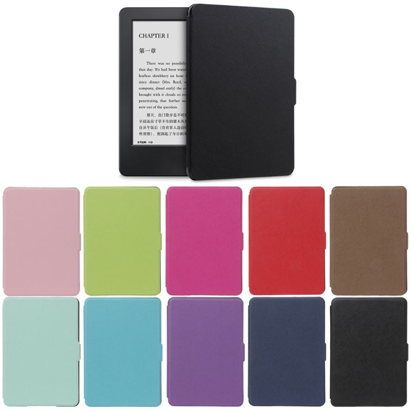 """Moda Ultra Slim Shell protector de la cubierta del caso para 6 """"Amazon Kindle Paperwhite/1/2/3 de e-Libros de la caja de la piel 10-Color C26"""