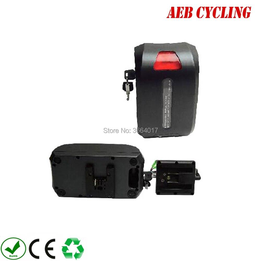 Livraison gratuite et taxes à lue US Lithium ion 24 V 16Ah Haibao siège tube batterie pour gros pneu vélo ville vélo avec chargeur