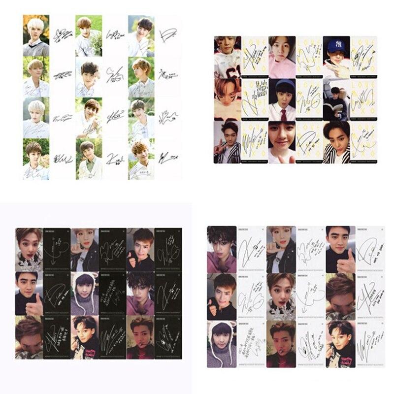 Youpop KPOP EXO K M exacto LOTTO planta 3 EXACT álbum papel hecho a sí mismo tarjetas K-POP firma LOMO tarjeta Photocard