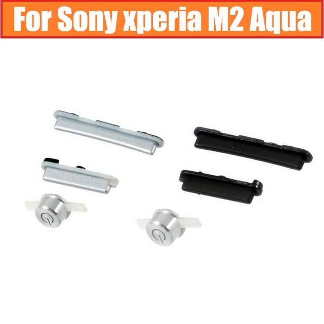 Оригинальные затвор камеры + Громкость + кнопки питания для Sony Xperia M2 Aqua S50H S50T D2303 D2305 D2306 боковой Клавиатуры Запчасти для сотового телефона