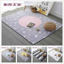 Tapis de rêve doux en vente   Tapis de jeu épais et doux, 120x180cm pour chambre à coucher moderne, grands tapis roses pour salon