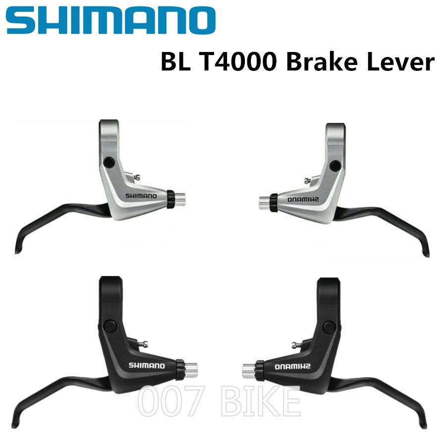 New Shimano BL T4000 MTB Road Bike Bicycle T4000 Brake Lever Set - Black 22.2mm V-Brake Left and Right