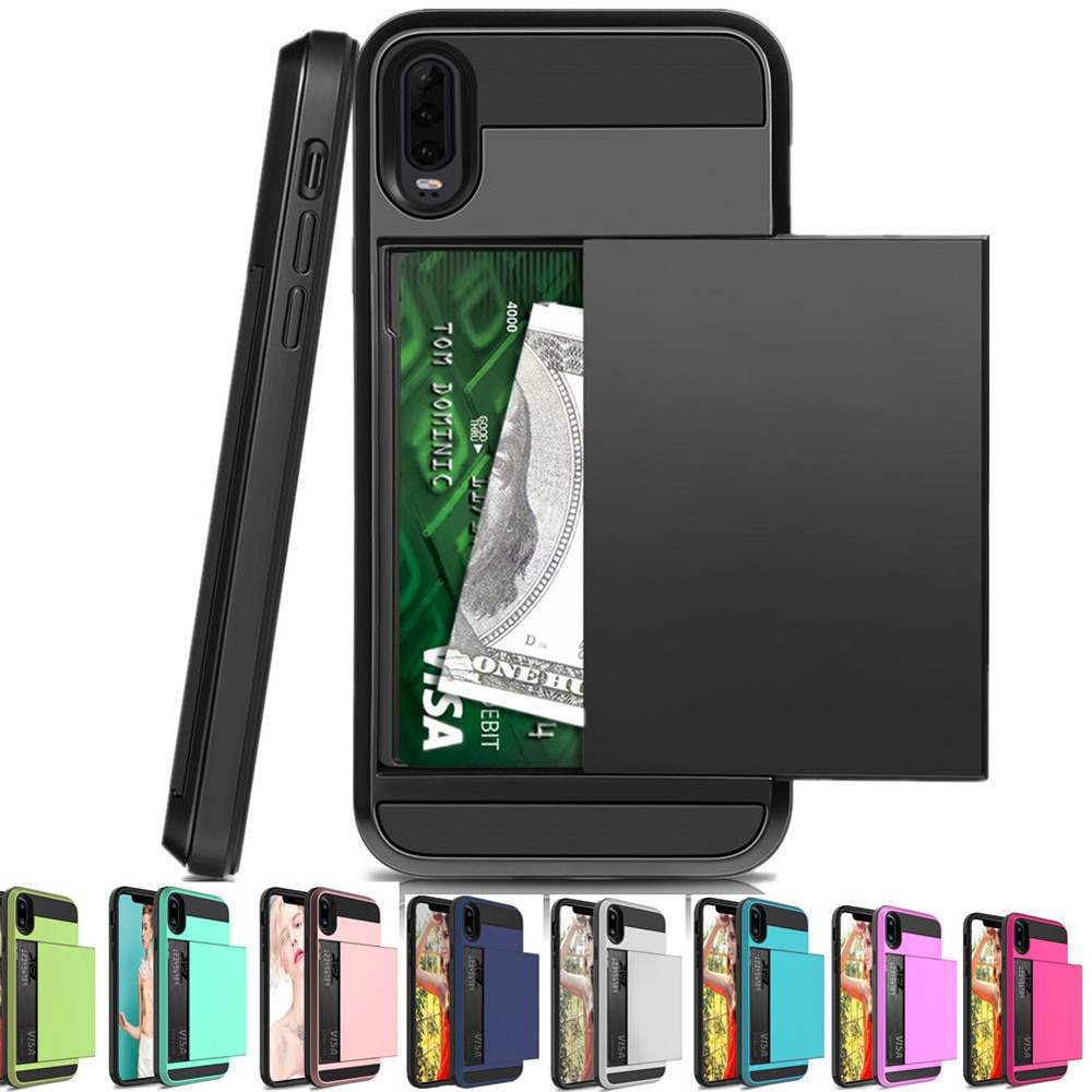 Funda De Bolsillo Para Huawei P30 Pro Lite P20 P Smart 2019 Con Ranura Para Tarjeta Puerta Corredera P20 Pro Lite P Smart 2019 P30pro Fundas Antigolpes Para Teléfono Aliexpress
