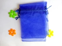 2000pcs 1015cm royal blue organza gift bag jewelry packaging display bags drawstring pouch for braceletsnecklace mini yarn bag
