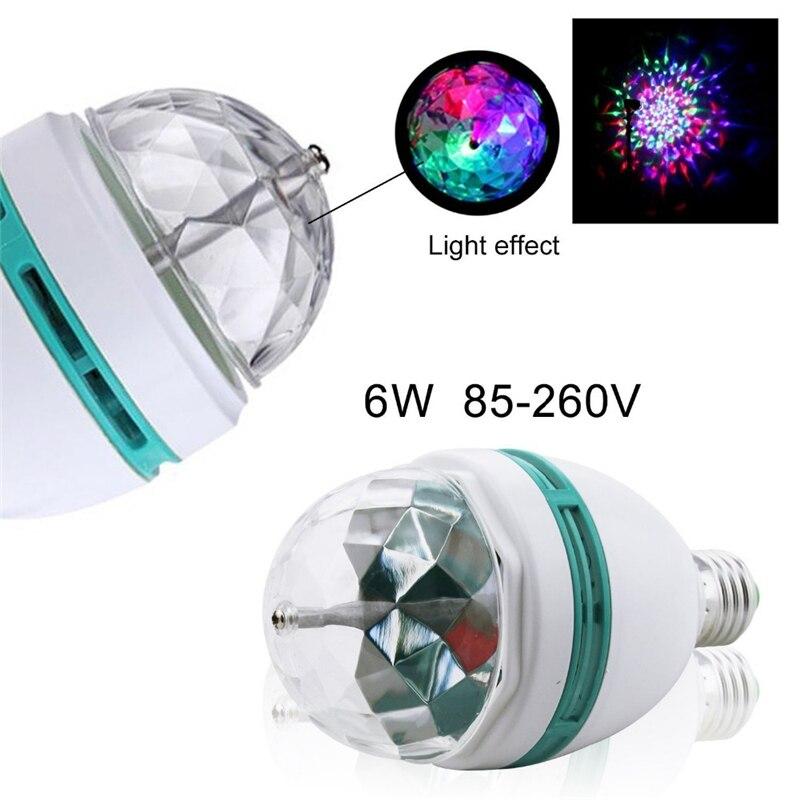 Lámpara Led de escenario E27 RGB 6W, bola mágica de cristal, Bombilla para DJ par KTV Disco, luces láser para fiestas, proyector de Navidad, fiesta, discoteca