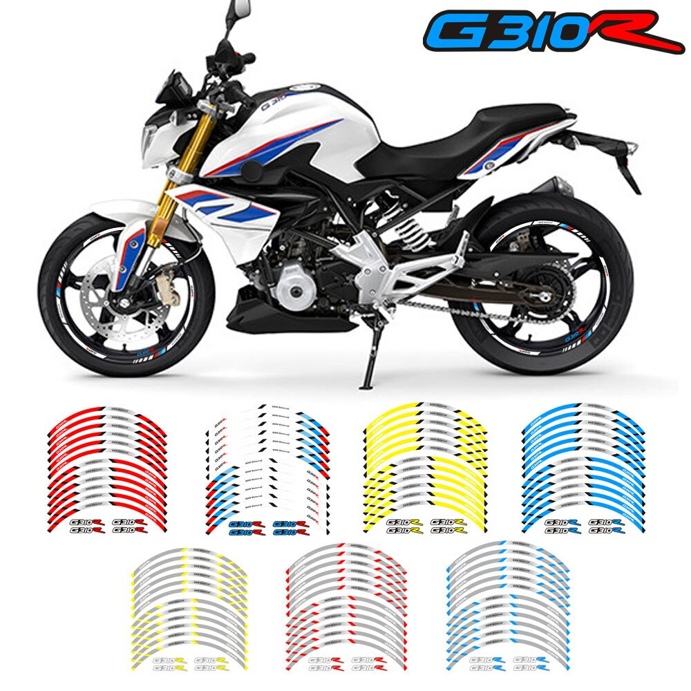 De la motocicleta de alta calidad las ruedas delantera y trasera borde exterior etiqueta reflectante de la raya de calcomanías para BMW G310R